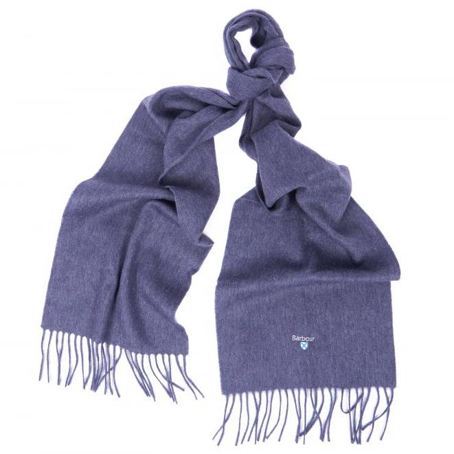 Barbour Ladies Lambswool Scarf - Blue Sapphire