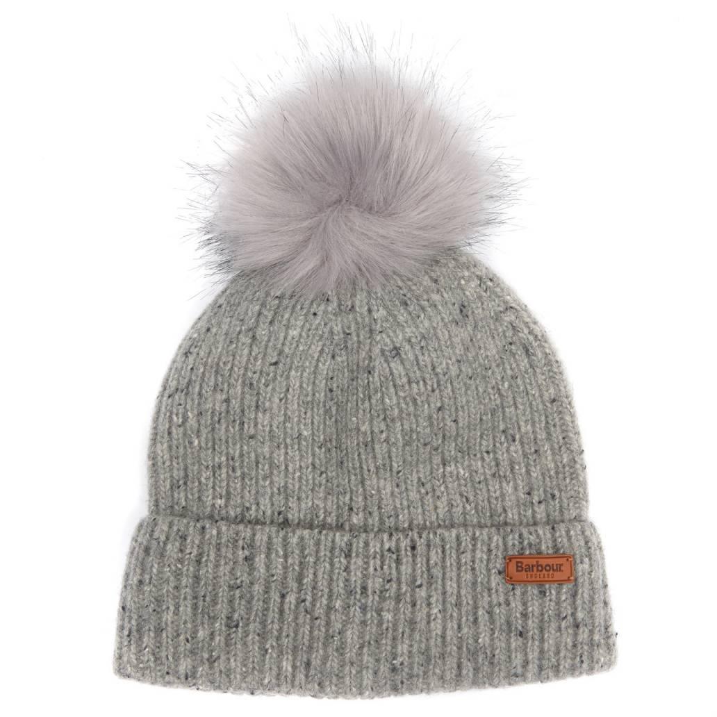 Barbour Ladies Weymouth Pom Beanie Hat - Grey