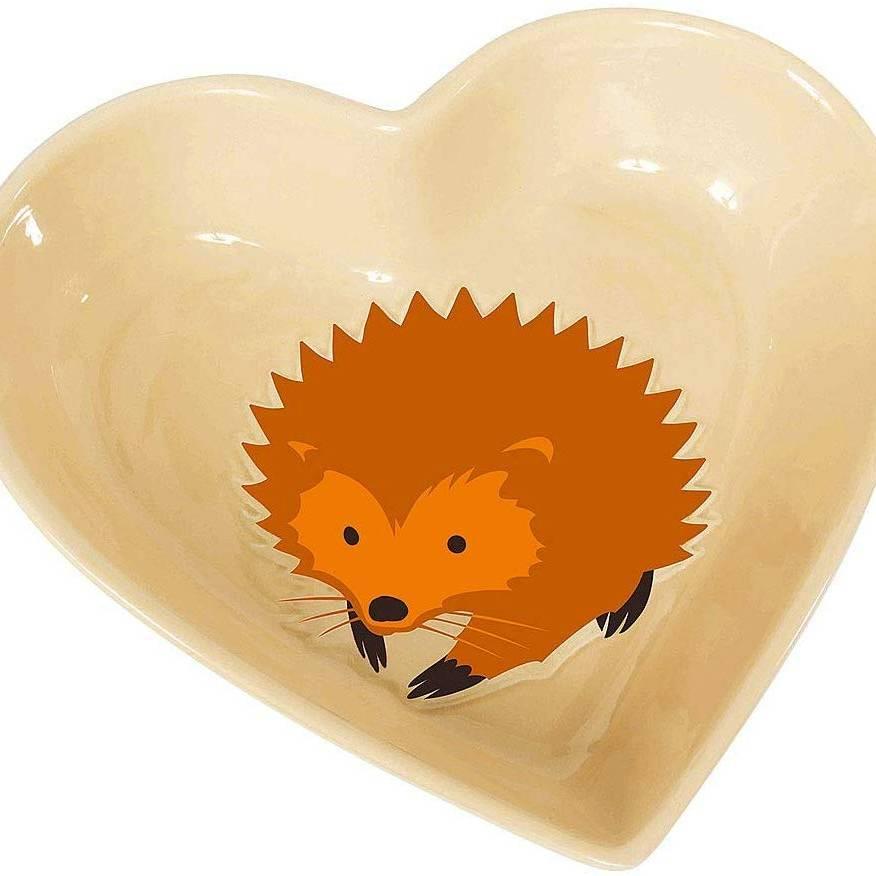 I Love Hedgehog Feeding Bowl