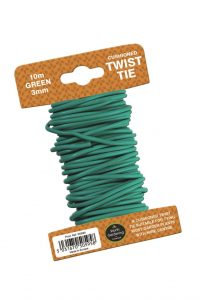 Garland 10m Twist Tie Cushioned 3mm Green