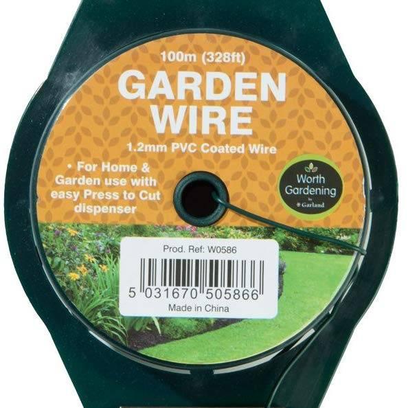 Garland 100m Garden Wire 1.2mm PVC Coated