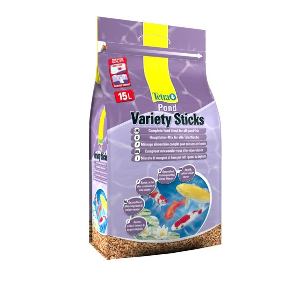Tetra Pond Variety Sticks 15L 2120g