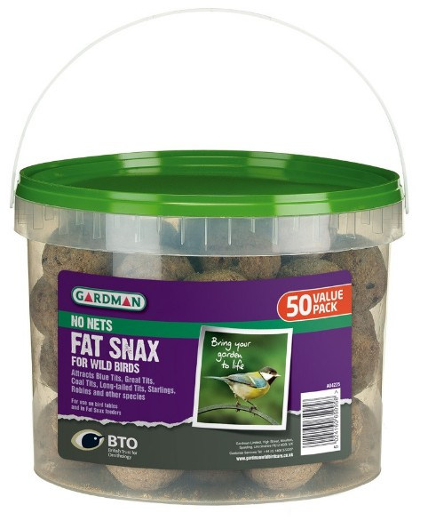 Gardman No Nets Fat Snax (Fat Balls) Tub of 50