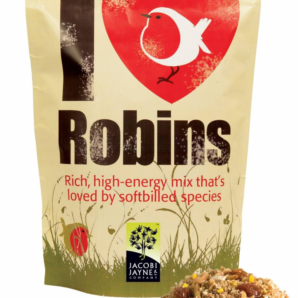 Jacobi Jayne 'I Love Robins' Bird Food - 500g