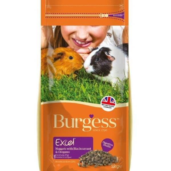 Burgess Excel Adult Guinea Pig Nuggets With Blackcurrant & Oregano - 2 kg