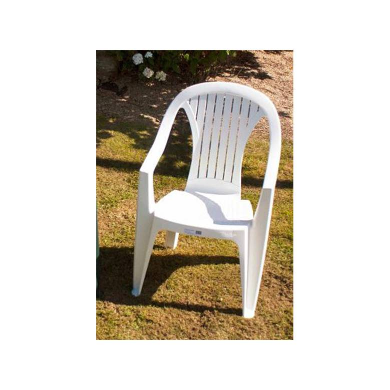 Resin Low Back Chair - White
