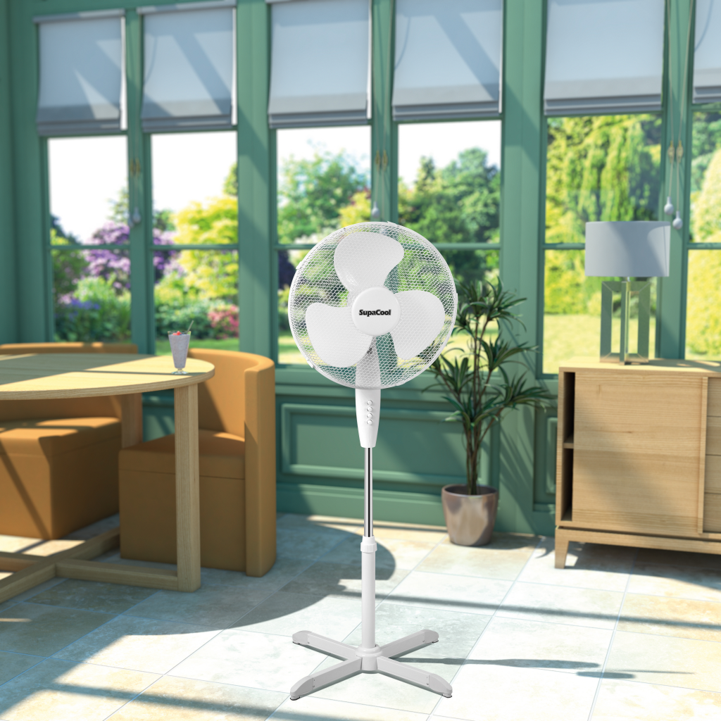 SupaCool Oscillating Stand Fan 16 inch