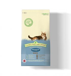 James Wellbeloved Cat Housecat Duck & Rice - 4kg