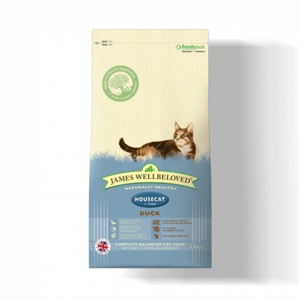 James Wellbeloved Cat Housecat Duck & Rice - 4kg