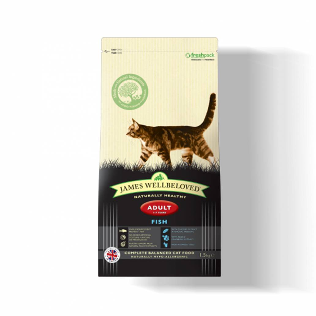 James Wellbeloved Cat Adult Fish & Rice - 1.5kg