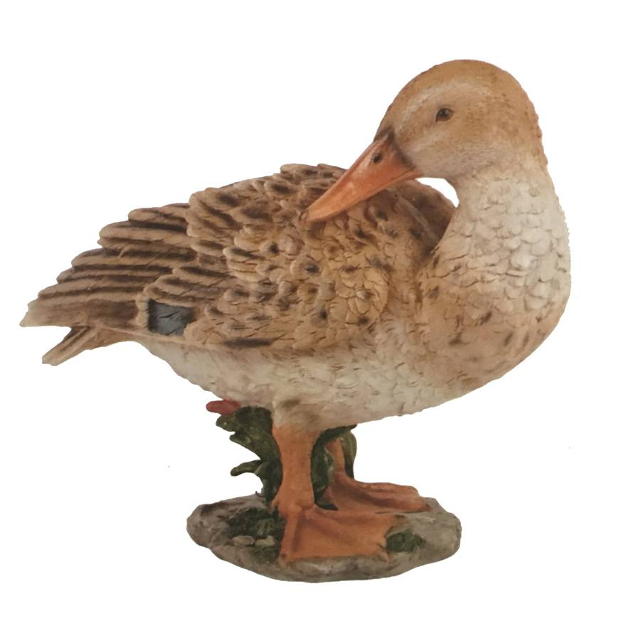 Hamac Preening Duck Garden Feature