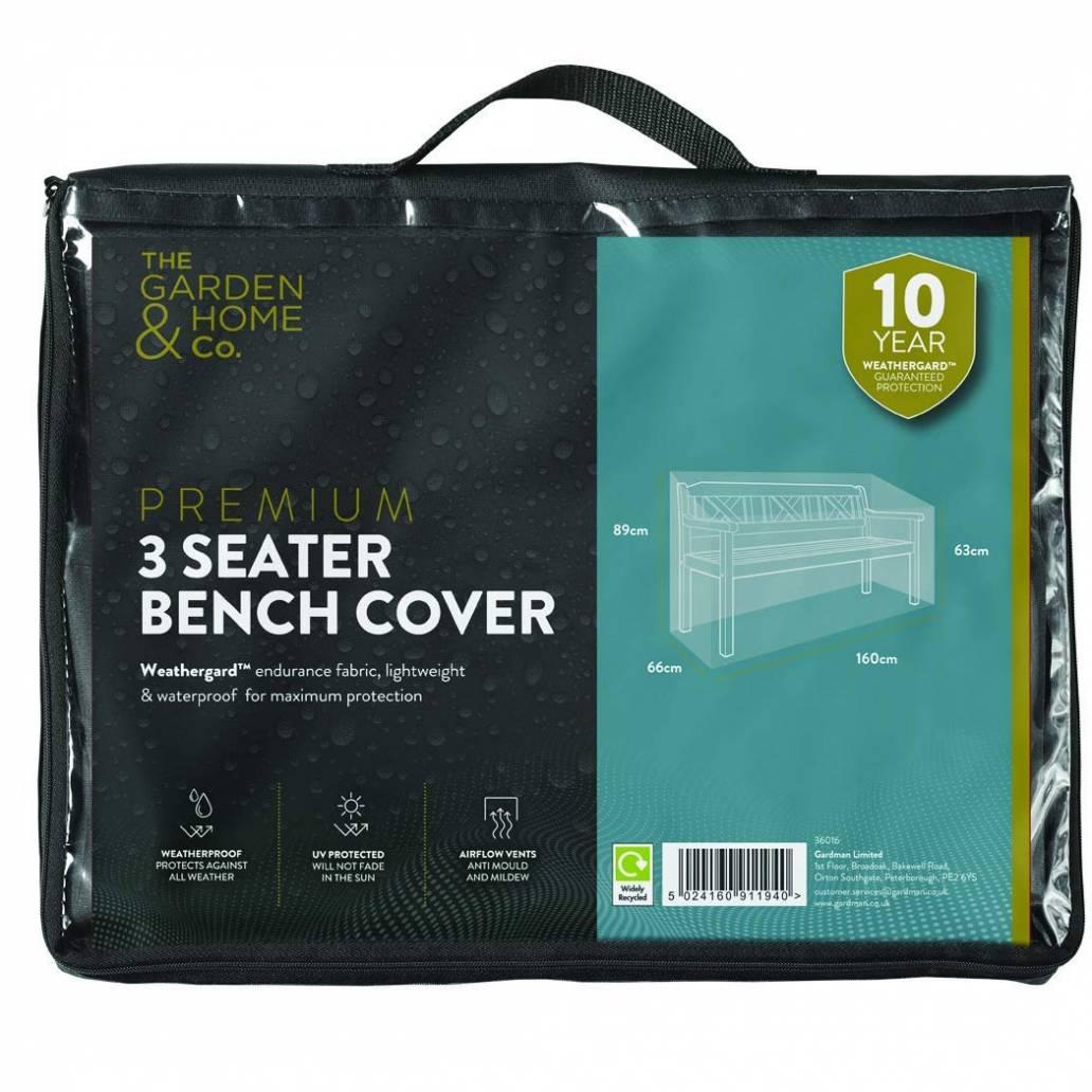 Gardman 3 Seat Bench Cover Green 37016