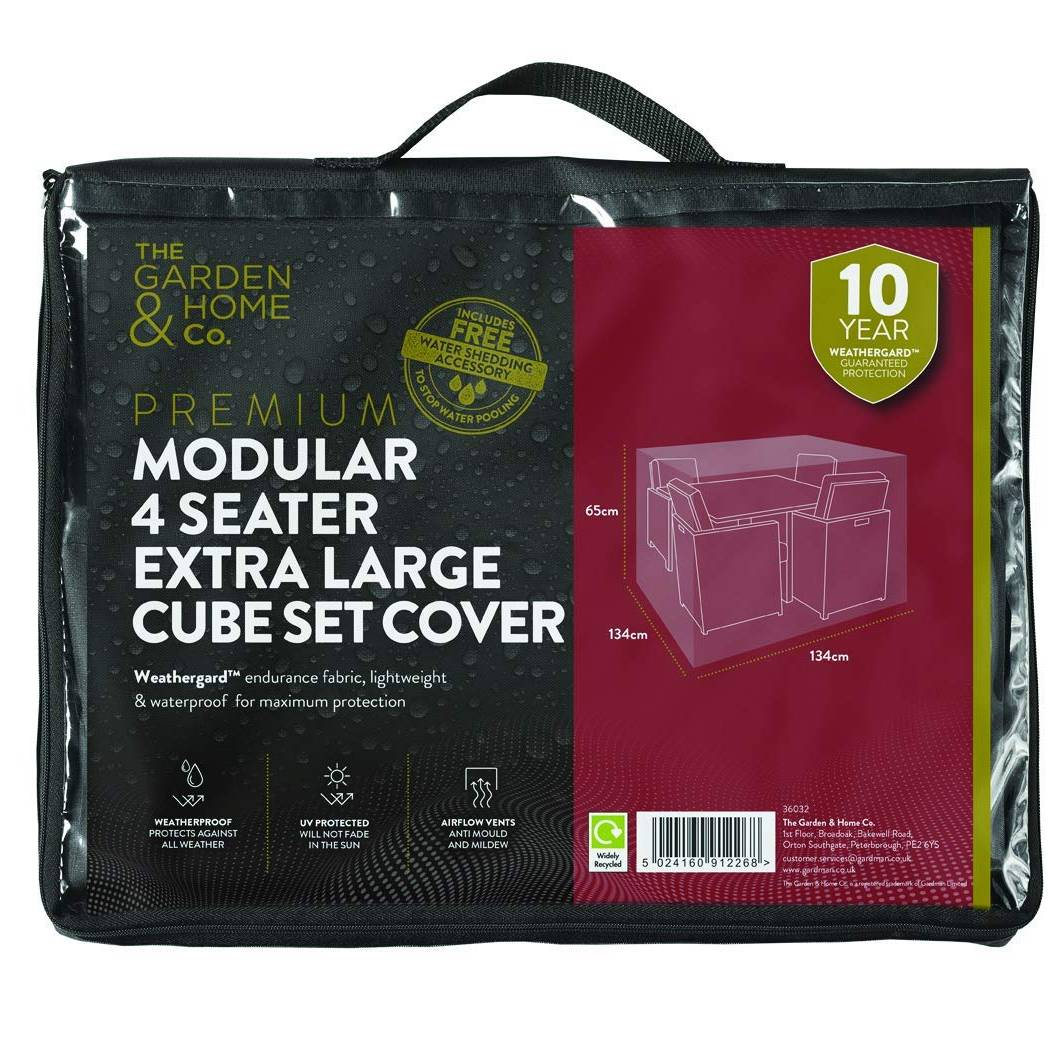 Gardman 4 Seat XL Cube Cover Grey 38032