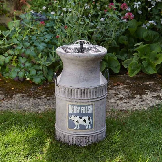 Smart Garden Milk Churn Water Feature