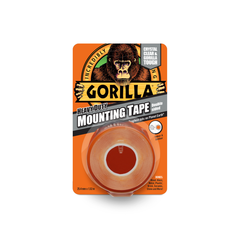 Gorilla Double Sided Mounting Tape 1.5m Clear