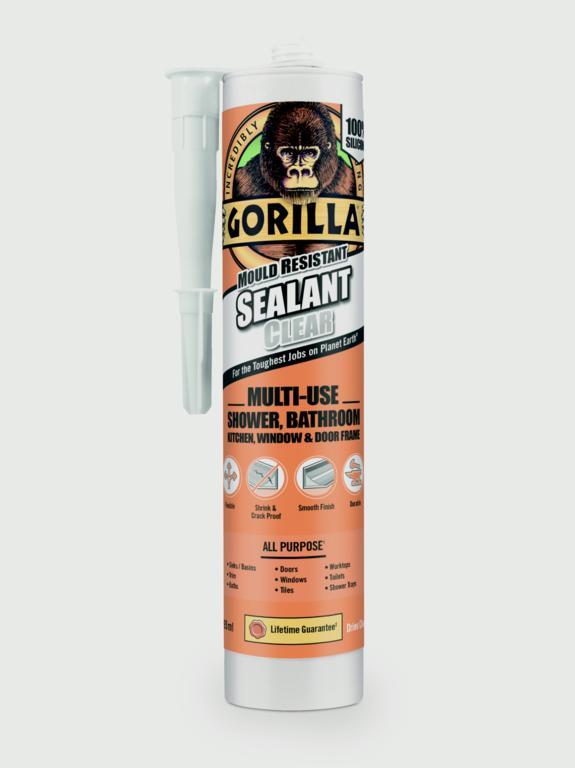 Gorilla Mould Resistant Sealant Clear 295ml