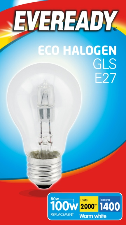 Eveready Eco GLS Clear Bulb E27 Es 100w