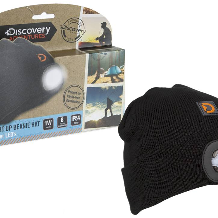 DA Beanie With Torch - Black
