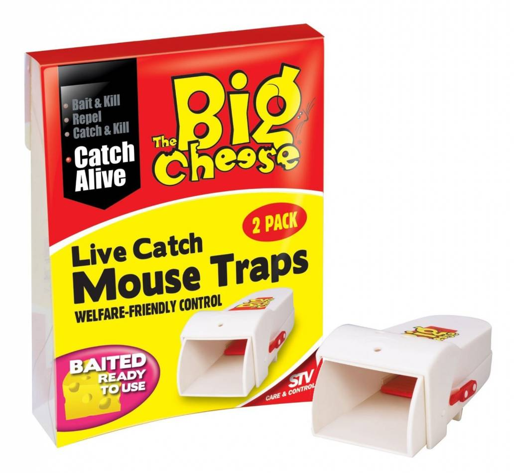 The Big Cheese Live Catch Ready To Use Mouse Trap - Twin Pack