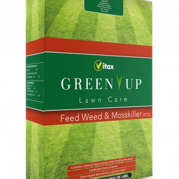 Vitax Green Up Lawn Care Feed Weed & Moss Killer - 3kg