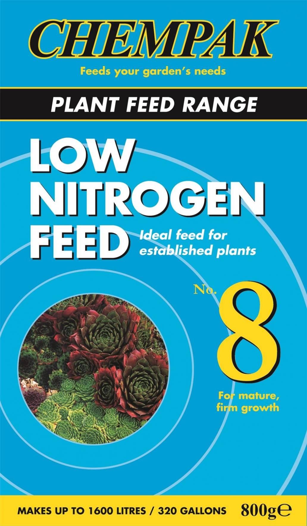 Chempak Low Nitrogen Feed No8 800g