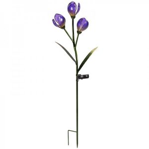 Smart Garden Glass Flowers Solar Stake Light - Crocus