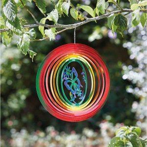 "Smart Garden 12"" Butterfly Rainbow Spinner"