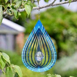 "Smart Garden 12"" Crystal Teardrop Spinner - Azure"
