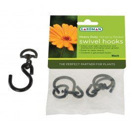 Gardman Hanging Basket Heavy Duty Swivel Hooks (2)