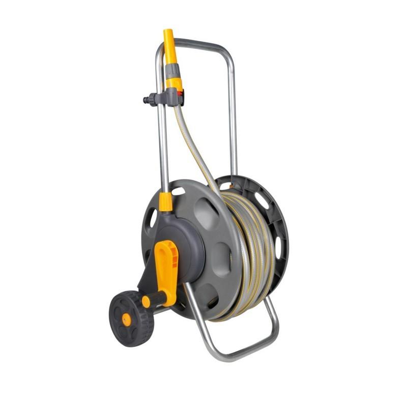 Hozelock Ass. 60m Hose Cart 50m MP hose & fittings/nozz. (2435)