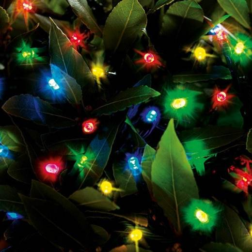 Cole & Bright Solar 200 LED String Lights - Multicoloured