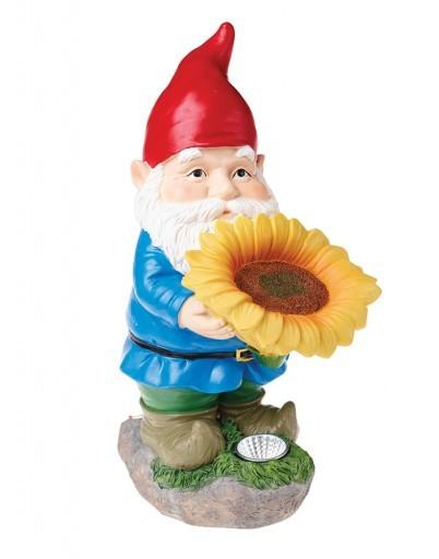 Cole & Bright Solar Garden Gnome Sunflower Light