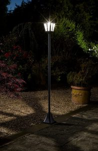 Solar Powered 'Whitehall Lamp Post' Tear Drop Lens - 1.7m
