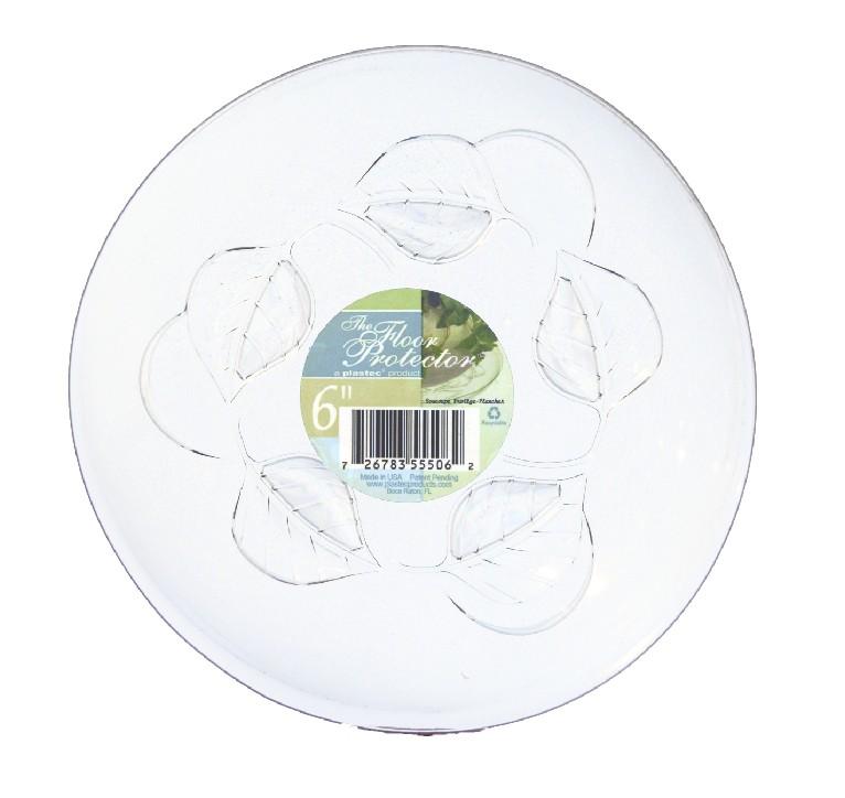 Plastec 6'' Floor Protector Saucer