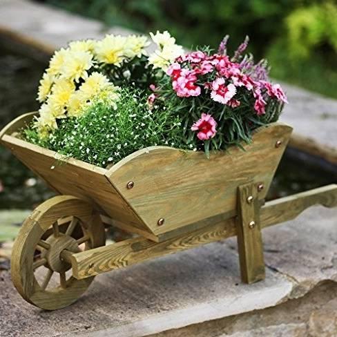 Garden Woodland Wheelbarrow Planter