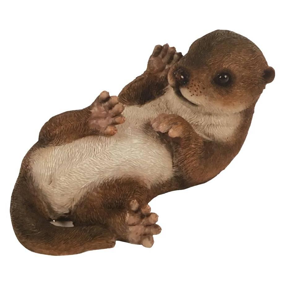 Hamac Playful Otter Pup Garden Feature