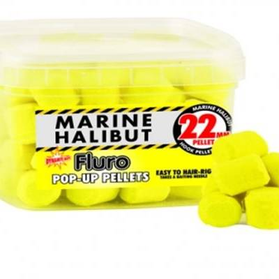 Yellow Fluro Marine Halibut 22mm