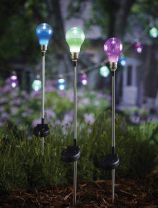 Cole & Bright Solar Bulb Stake Light 18630D