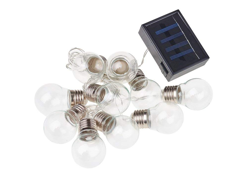 Cole & Bright Solar 10 Clear Bulb String Lights