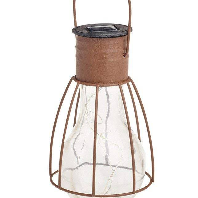 Cole & Bright Solar Caged Lightbulb Lantern
