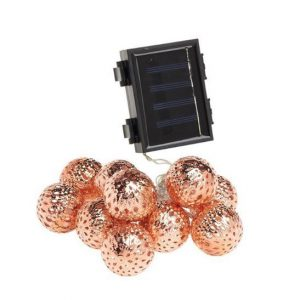 Cole & Bright Solar 10 Rose Gold Sphere String Lights