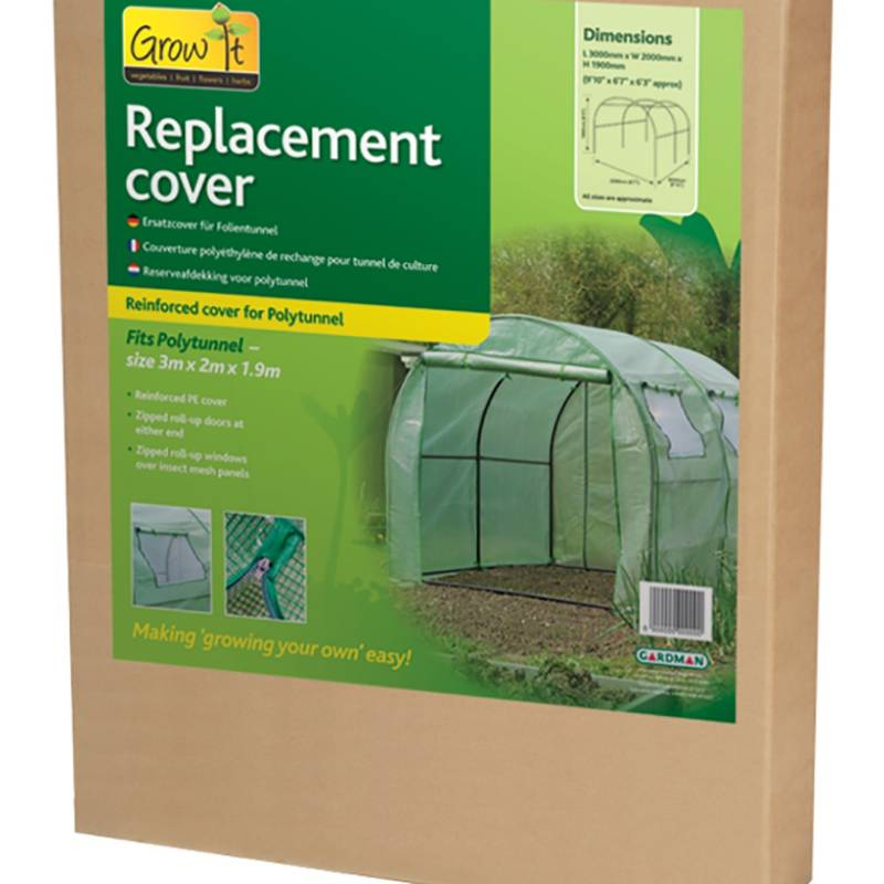 Gardman Polytunnel Reinforced Replacement Cover 3m x 2m x 1.9m (08733)