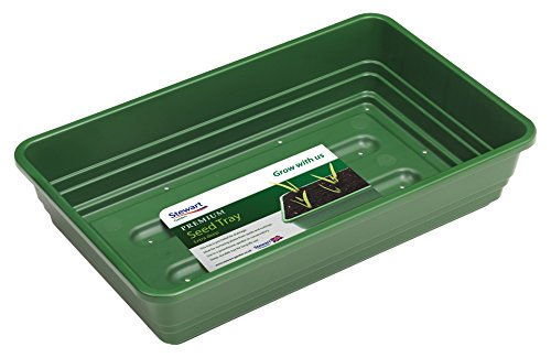 Stewart 22cm Premium Extra Deep Seed Tray (with holes) Dark Green