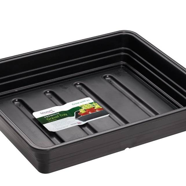 Stewart 52cm Premium Extra Deep Gravel Tray (without holes) Black