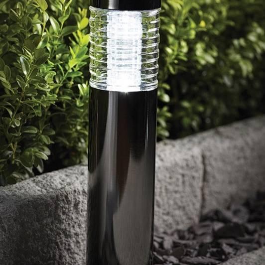 Cole & Bright Solar Black Nickel Bollard Light