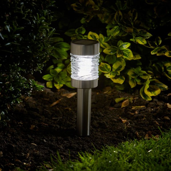 Smart Solar Martini Stainless Steel Stake Light, 3L