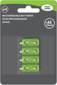 Smart Solar 2/3 AA Rechargeable Batteries 200mAh (4pk)