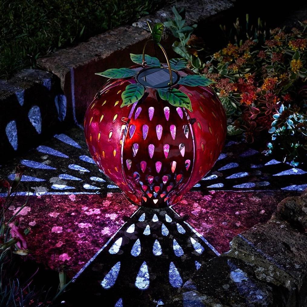 Smart Solar 'Funky Strawberry'  Solar Powered Garden LED Light