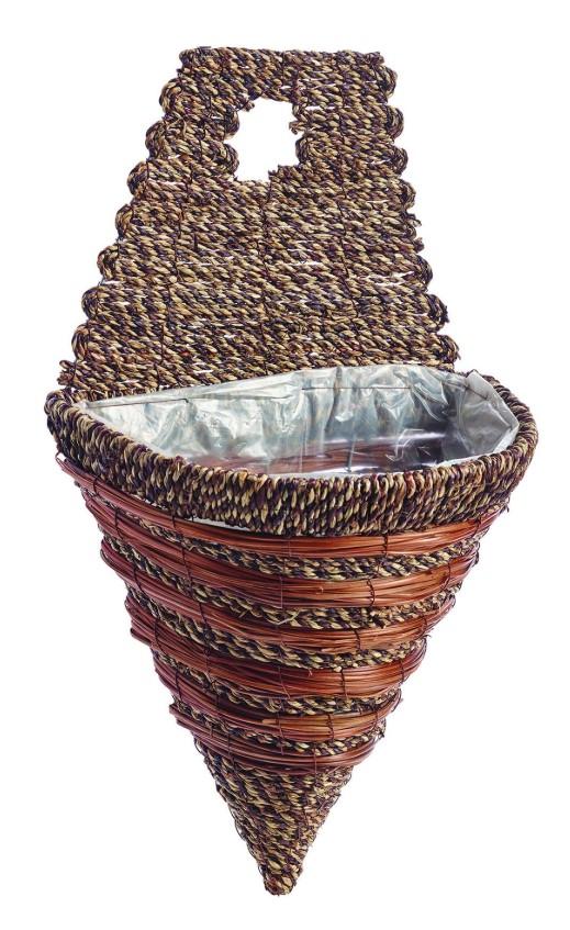 "Gardman 30cm (12"") Sisal Rope & Fern Wall Torch  02773D"