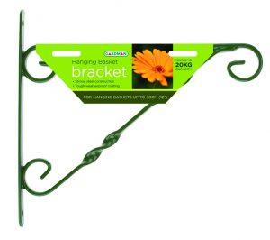 """Gardman 35cm (14"""") Standard Hanging Basket Bracket - Green"""